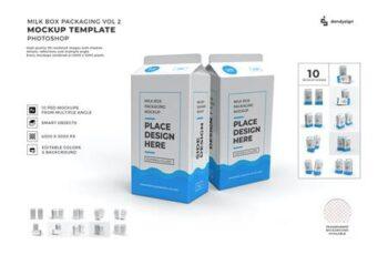 Milk Box Packaging Mockup Template Set Vol 2 U9JPPJY 7