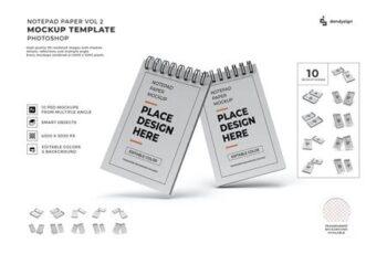 Notepad Paper Mockup Template Set Vol 2 B28K9GB 3