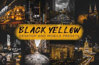 6 Black Yellow Lightroom Presets 6350924 6