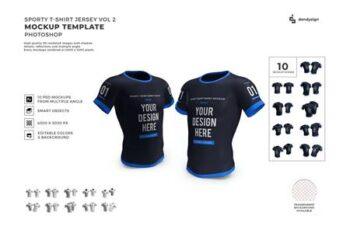Tshirt Jersey Mockup Template Set Vol 2 AW6EA7W 13