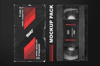 OLD VHS video cassette mockup pack 6473293 10
