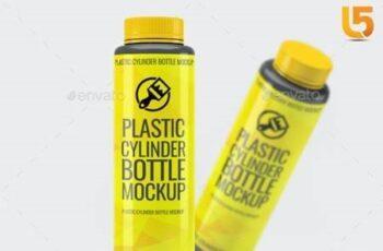 Plastic Cylinder Bottle Mock-Up 21248060 9