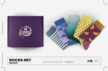 Socks Set Mockup 6178864 7