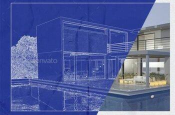 Architect Blueprint Photo Effect 33249812 3