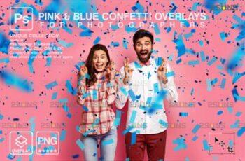 Gender Reveal Confetti Overlay Photoshop 16896261 8