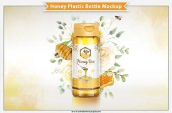 Honey Plastic Bottle Mockup 6305503 3
