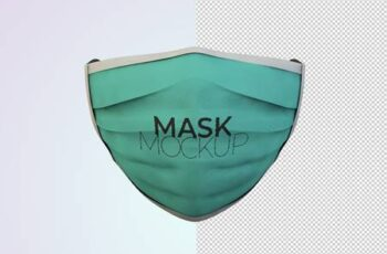Front View Face Protection Mask Mockup AFD765S 13