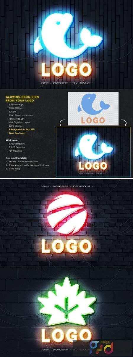 Neon Logo Mockup CHNXD3G 1