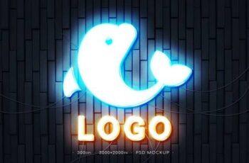 Neon Logo Mockup CHNXD3G 10