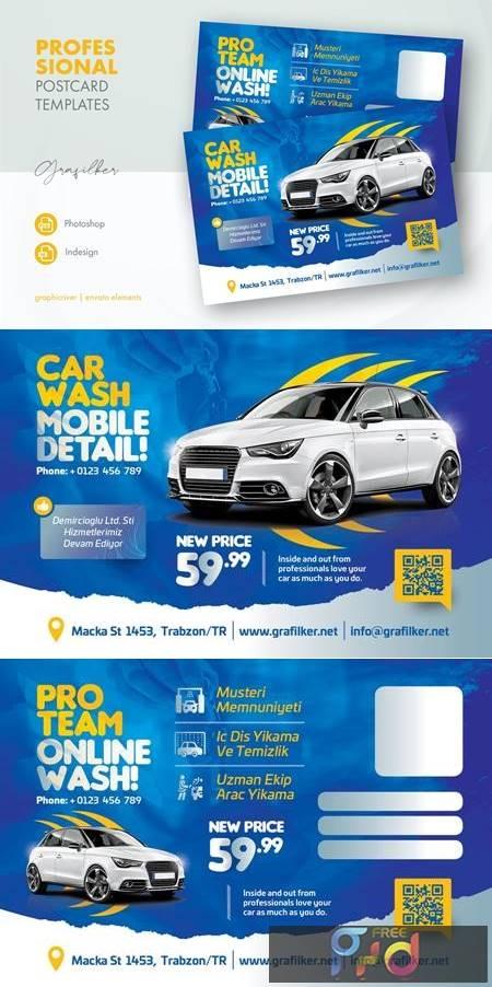 Car Wash Postcard Templates KPCLGUT 1