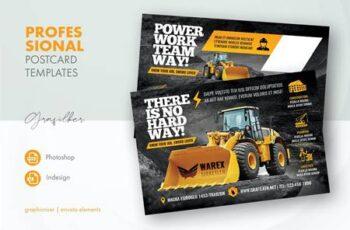 Construction Postcard Templates 58P6KMZ 3
