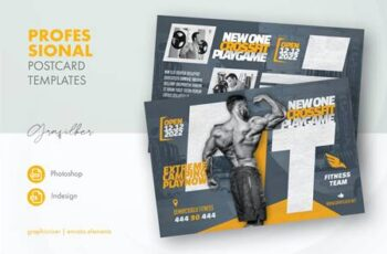 Fitness Time Postcard Templates NGMHPS8 6
