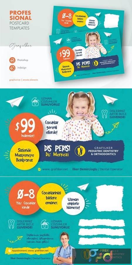 Kids Dental Postcard Templates NP655GJ 1