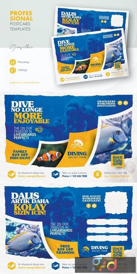 Ocean Diving Postcard Templates JXVHTWZ 1