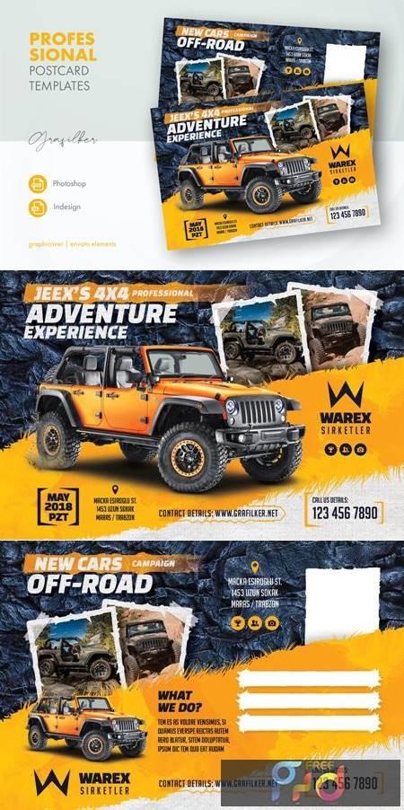 Off-Road Adventure Postcard Templates J7PQ8A7 1