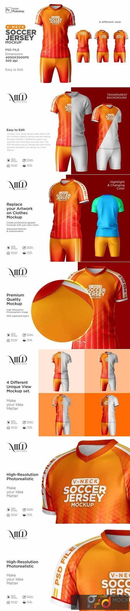 Men Soccer Jersey kit Mockup 6294910 1