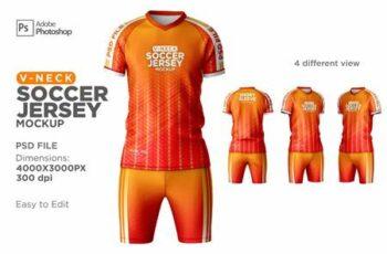 Men Soccer Jersey kit Mockup 6294910 7