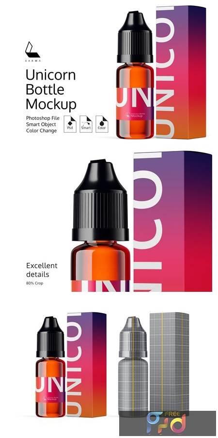 Unicorn Bottle Mockup 6360457 1