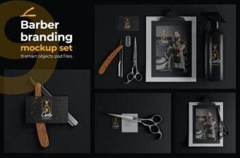 9 Barber Branding Mockup Set MQYCZEC 2