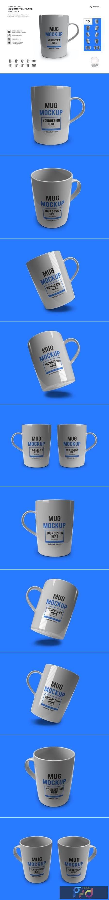 Coffee Mug Mockup Template Set KW3AXTH 1