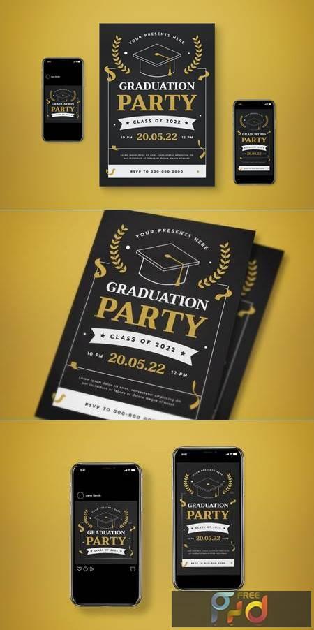 Graduation Party Flyer Set DF6XR8K 1