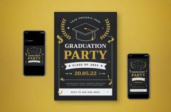 Graduation Party Flyer Set DF6XR8K 3