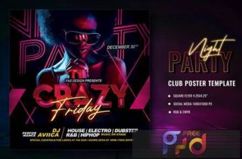Night Party Flyer ZFDMS8H 1
