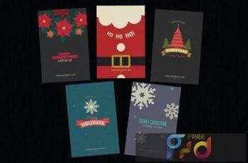 Simple Christmas Invitation Cards MJNRMPJ 2