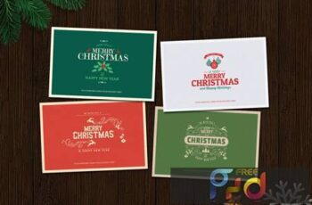 Typography Christmas Card HGZ37MN 1