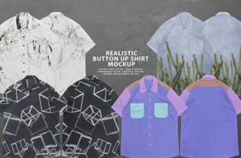 Realistic Button-Up Shirt Mockup 5931439 5