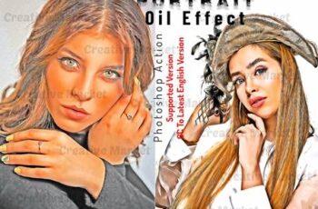 Portrait Oil Effect Photoshop Action 6536922 4