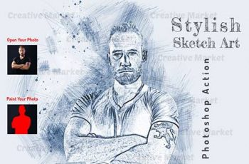 Stylish Sketch Art PS Action 6561769 7